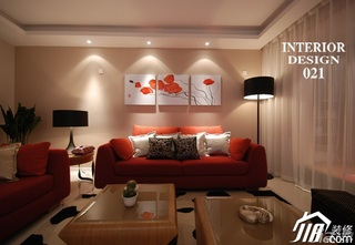 简约风格富裕型客厅沙发婚房家装图片