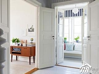 新古典风格别墅豪华型过道木门效果图