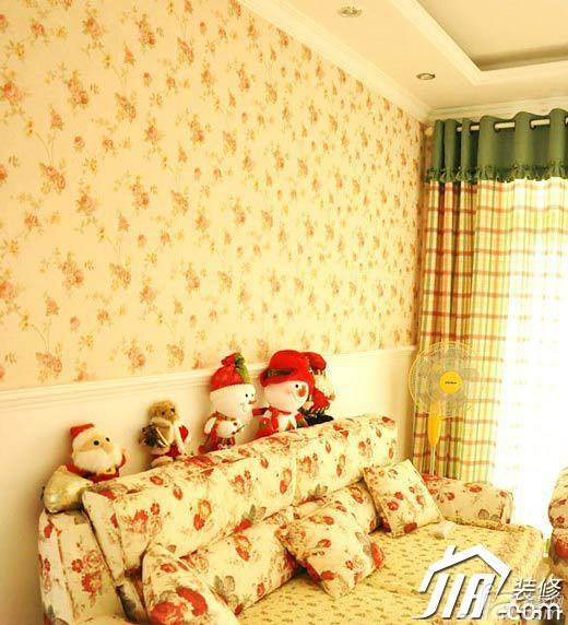 田园风格公寓浪漫富裕型客厅沙发图片