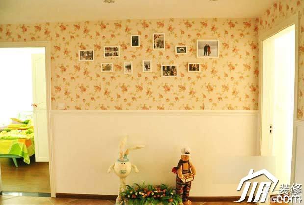 田园风格公寓浪漫富裕型照片墙设计图纸