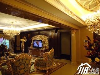 欧式风格别墅奢华豪华型客厅电视背景墙沙发效果图