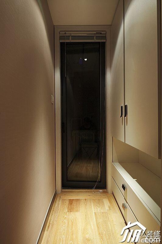 宜家风格公寓富裕型门厅玄关柜效果图