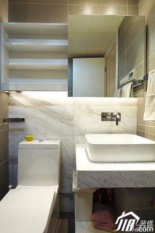 宜家风格公寓富裕型卫生间洗手台图片