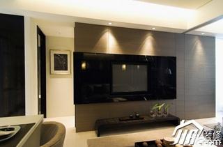 欧式风格公寓简洁富裕型100平米客厅电视背景墙灯具效果图