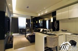 欧式风格公寓简洁富裕型100平米客厅电视背景墙沙发效果图