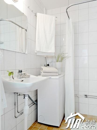 简约风格小户型白色富裕型淋浴房图片