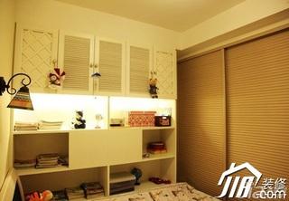 地中海风格小户型5-10万90平米卧室书架效果图