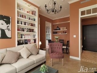田园风格小户型简洁富裕型60平米客厅沙发背景墙沙发效果图