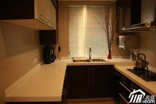简约风格小户型实用黑色经济型厨房橱柜效果图