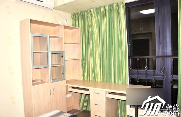 欧式风格公寓小清新10-15万80平米书房窗帘图片