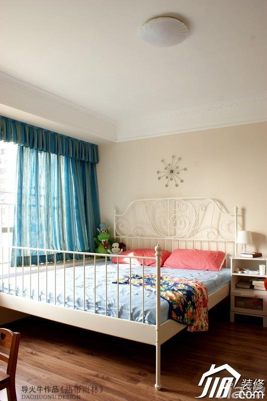 导火牛美式乡村风格复式简洁140平米以上卧室床效果图