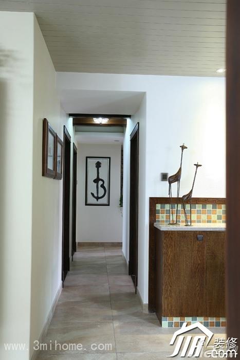 中式风格公寓富裕型走廊装修效果图