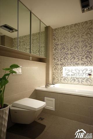简约风格公寓富裕型卫生间背景墙装修图片