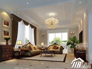 东南亚风格别墅奢华豪华型客厅电视背景墙沙发效果图