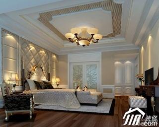 东南亚风格别墅奢华豪华型卧室电视背景墙床图片