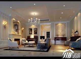 东南亚风格别墅奢华豪华型客厅背景墙沙发效果图