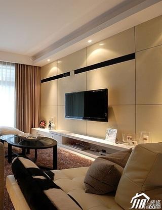 简约风格15-20万130平米客厅电视背景墙电视柜效果图