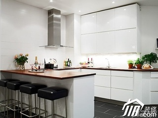 欧式风格公寓白色富裕型100平米厨房橱柜效果图
