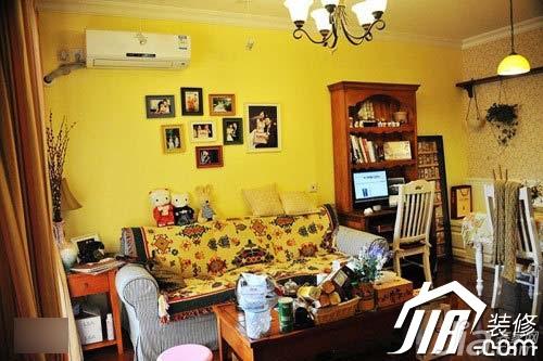 简约风格小户型3万-5万客厅沙发背景墙沙发效果图