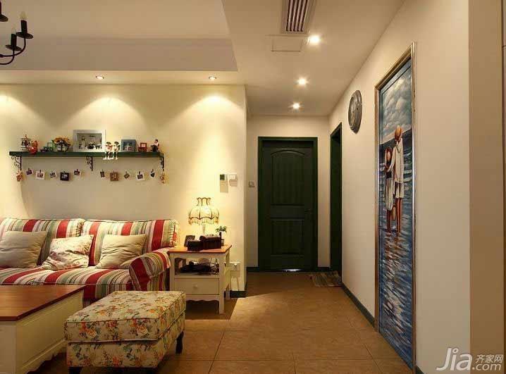 风格公寓经济型90平米走廊装修效果图高清图片