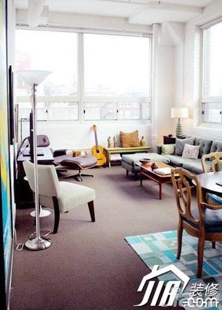 混搭风格小户型经济型70平米客厅灯具效果图