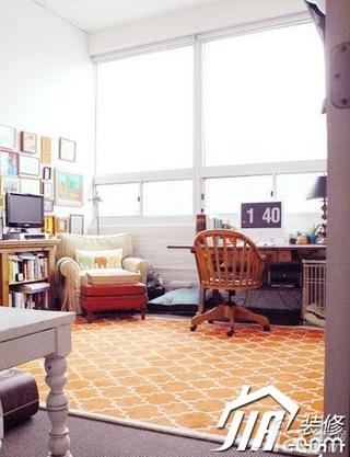 混搭风格小户型经济型70平米书房书桌效果图