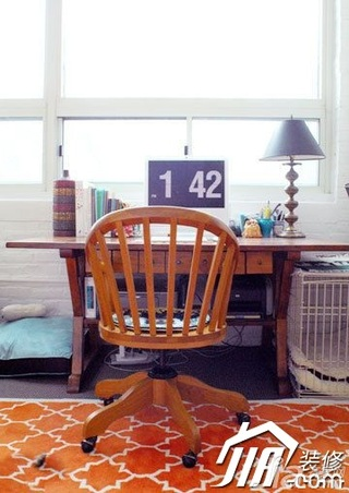 混搭风格小户型经济型70平米书桌效果图