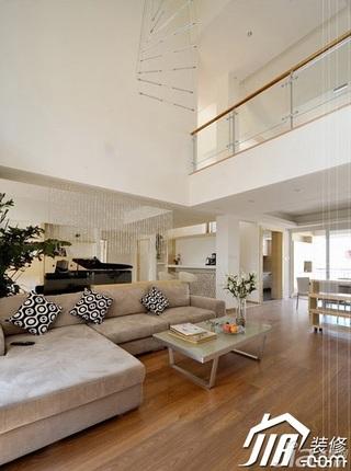 简约风格复式富裕型110平米客厅沙发效果图