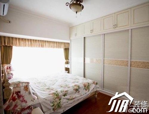 田园风格小户型5-10万90平米卧室床效果图