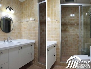 田园风格小户型5-10万90平米卫生间洗手台效果图