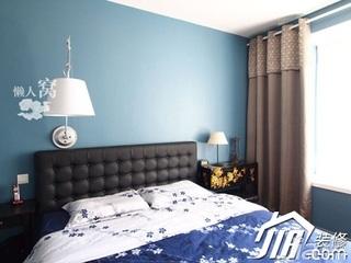 混搭风格小户型富裕型卧室床婚房家装图片