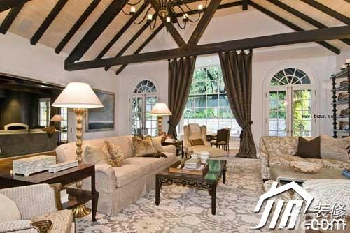 田园风格别墅奢华豪华型客厅沙发效果图