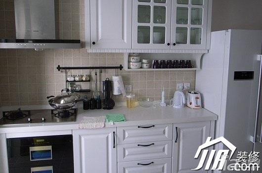 简约风格小户型白色3万-5万厨房橱柜定制