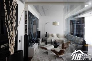 简约风格公寓富裕型100平米玻璃隔断地毯图片