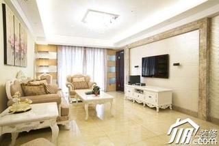 欧式风格豪华型客厅电视柜图片