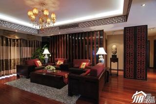 中式风格公寓民族风富裕型110平米客厅沙发效果图