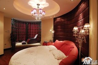 中式风格公寓浪漫富裕型110平米卧室地台床图片