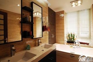 中式风格公寓简洁富裕型110平米卫生间灯具图片