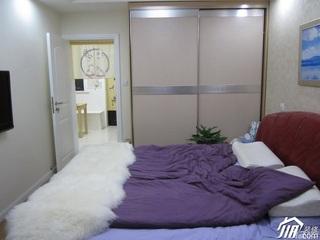 简约风格60平米卧室卧室背景墙衣柜设计图纸