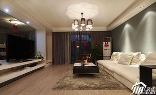 loft风格复式15-20万客厅电视背景墙沙发婚房设计图
