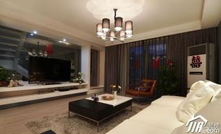 loft风格复式15-20万客厅电视背景墙电视柜婚房设计图