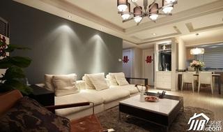 loft风格复式15-20万客厅茶几婚房家居图片