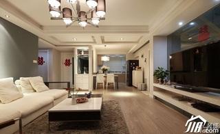 loft风格复式15-20万客厅电视背景墙沙发婚房家装图