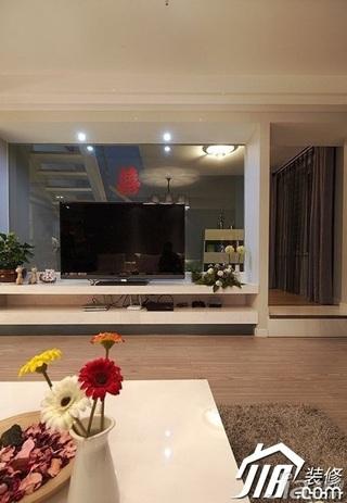 loft风格复式15-20万电视背景墙电视柜婚房设计图纸