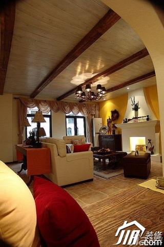 地中海风格公寓经济型110平米客厅沙发效果图