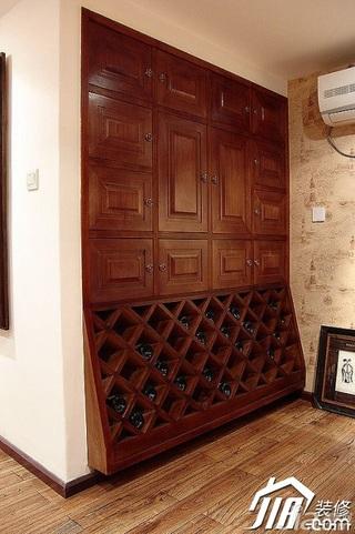 地中海风格公寓经济型110平米酒架效果图