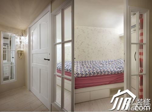 美式乡村风格小户型富裕型60平米卧室隔断设计图