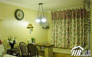 美式乡村风格二居室浪漫70平米卧室窗帘效果图
