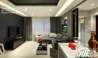 公寓黑白20万以上客厅吧台沙发效果图