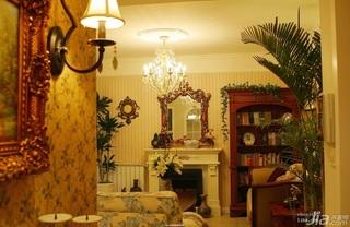 新古典风格公寓富裕型壁炉效果图